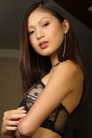 asian babe wearing classy lingerie