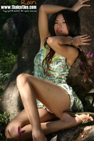 asian lady nude outdoors