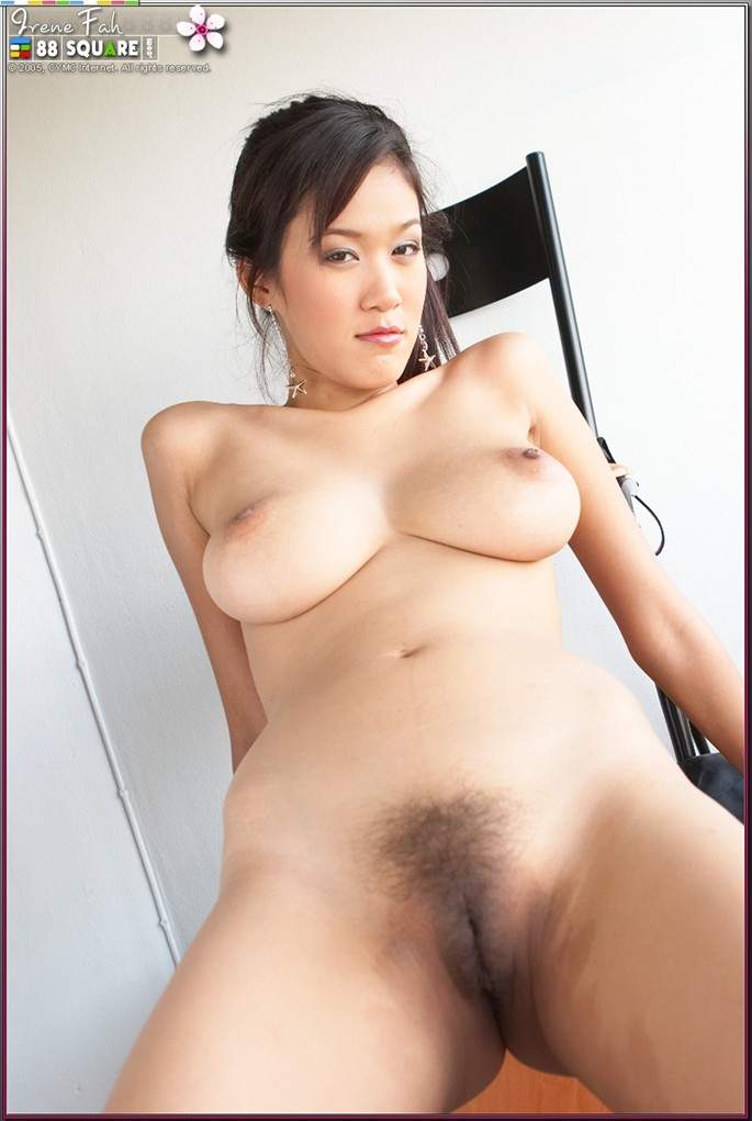 Asian girl big tits hairy pussy